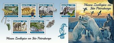 Z08 GB18310ab Guinea Bissau 2018 Zoological Museum St. Petersburg MNH ** Postfri