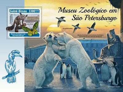 Z08 GB18310b Guinea Bissau 2018 Zoological Museum St. Petersburg MNH ** Postfris