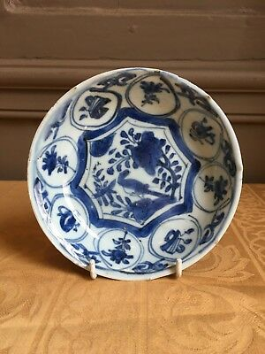 "17th century Ming Wanli period Chinese porcelain dish ""bird"" pattern 3"