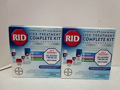2 Rid Lice Treatment Complete Kits 4 Items Each Box - Expire 07/18+ Mm 11353