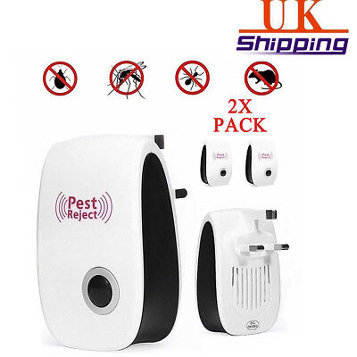 2pc Electronic Pest Control Whole House Rat Mouse Mice Mosquito Repeller Plug in