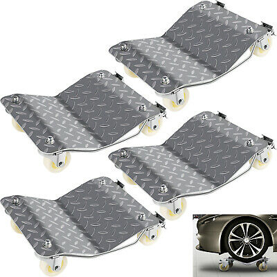 """Set of (4) Auto Dolly Wheel Tire 12""""x16"""" Skate Castor Repair Moving Slide NEWEST"""