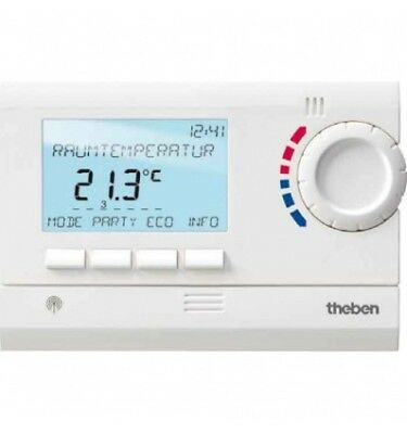 Thermostat Ambiance Programmable 24H 7J Radio 2 Zones Theben 8339502