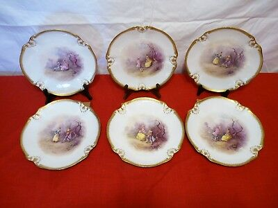 M. REDON LIMOGES Bailey, Banko & Biddle PA, F Charlay COURTING COUPLES PLATES