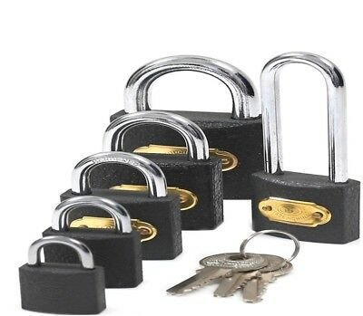 Heavy Duty Cast-Iron Padlock SMALL to LARGE Outdoor Safety Security Shackle Lock