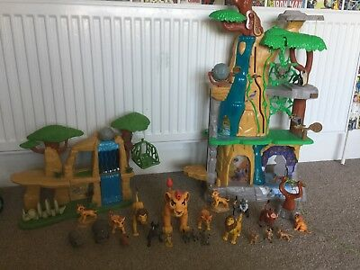 lion king the lion guard play sets/stations with figures.