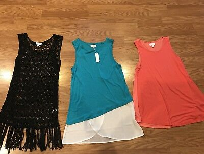 Charming Charlie Lot Of 3 Women's Tanks Shirts Size Small New