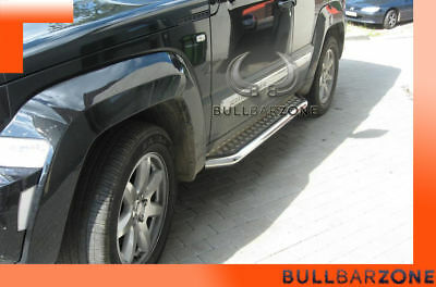 Jeep Cherokee Kk 2008-2012 Marche-Pieds Inox Plat / Protections Laterales