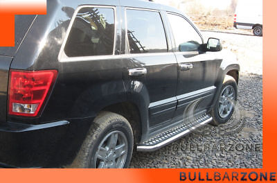 Jeep Grand Cherokee Wk 2005-2010 Marche-Pieds Inox Plat / Protections Laterales