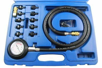 US PRO TOOLS 12pc ENGINE OIL PRESSURE TESTER Dual Scale Gauge Bar & PSI 5388