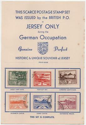 JERSEY: Scarce Postage Stamp Set Issued during German Occupation - Page (16024)