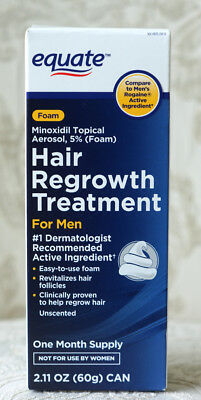 Equate Foam Hair Regrowth Treatment for MEN Minoxidil Topical Aerosal  Exp:10/18