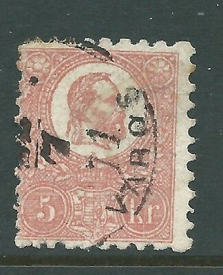 Hungary 1871 5 K Litho Used Difficult  Stamp!
