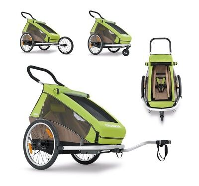 Child-bike-trailer Croozer 2016 kid for 1, green one-seater Croozer cargo