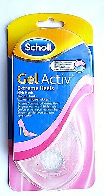 Scholl Gel Activ Extreme Heels Insoles For Women Size UK 3-7.5  EUR 35-40.5