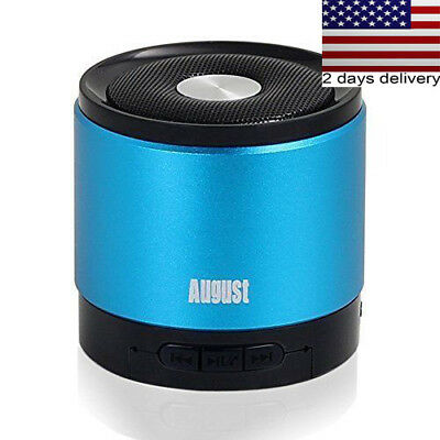 Portable Bluetooth Wireless Speaker with Microphone Blue Color Remote Control US