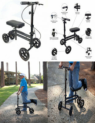 KneeRover Economy Knee Scooter Steerable Walker Crutch Alternative with DUAL...
