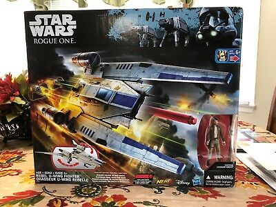 Star Wars Rogue One REBEL U-WING FIGHTER With CASSIAN ANDOR ~Nerf~Disney~Hasbro~