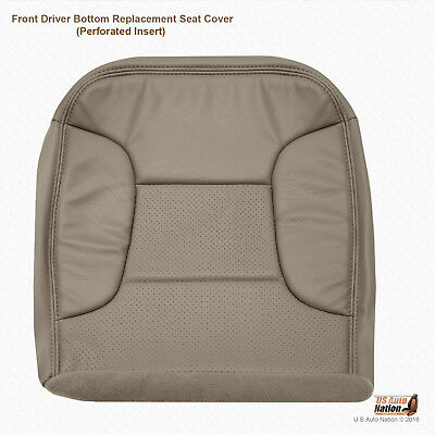1995 1996 Ford Bronco Eddie Bauer Driver Bottom Synthetic Leather Seat Cover Tan