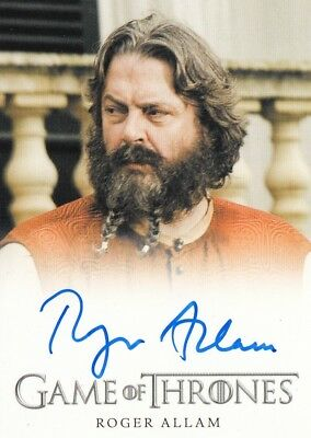 Game Of Thrones Season 7 - Roger Allam (Magister Illyrio) Autograph Card Fb