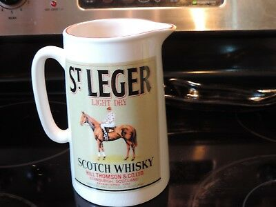 St LEGER SCOTCH  WHISKEY  Advertising Pitcher