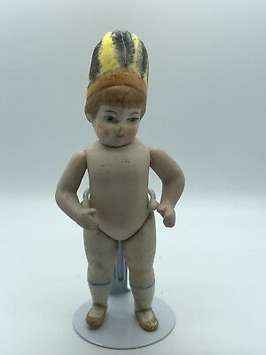Antique miniature Kister Porcelain Doll,bisque doll with Headdress from Germany