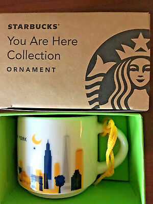 Starbucks Demitasse 2017 NEW YORK YAH You Are Here 2oz Espresso mug Ornament cup