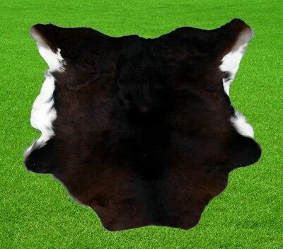 "New Calfhide Rugs Area Cow Skin Leather 6.04 sq.feet (30""x29"") Calf hide A-1168"
