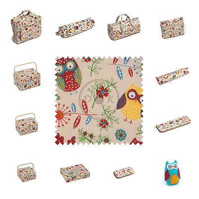 Owl Design by HobbyGift - Knitting Bags, Craft Bags, Sewing Baskets, and more