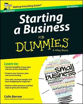 Starting a Business for Dummies for Dummies 4E UK by Colin Barrow (English) Pape