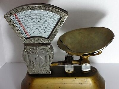 Rare Jacobs Brothers 2 Pound Candy Scale upright model has 1917 Calif Tax Stamp