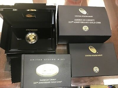 2017 W American Liberty 225th Anniversary 1oz .9999 Proof Gold Coin