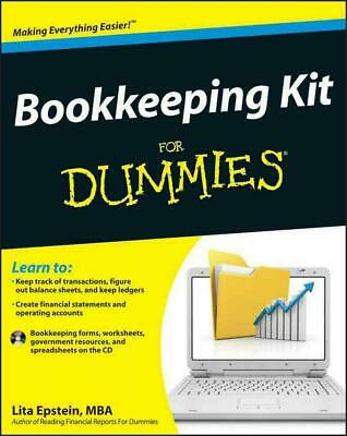 Bookkeeping Kit For Dummies by Lita Epstein (English) Paperback Book Free Shippi