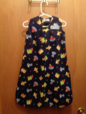 Halo Dark Blue Sleeveless Sleep Sack Travel Time Vehicles Size 0-6 months
