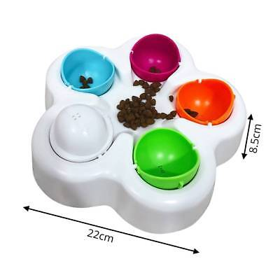 Interactive Pet Dog Cat Puzzle Slow Eating Feeder Bowl Puppy Food Feed Dish Toy