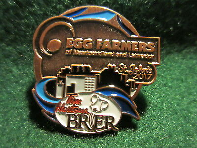 2017 St. John's Tim Hortens Brier Bronze Sponsor Pin EGG FARMERS of NL