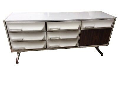 Mid Century Modern Dresser Credenza Raymond Loewy Space Age Vintage Mid Mod