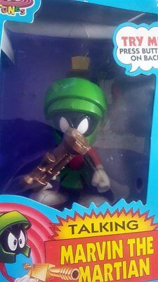 """NIB Talking Marvin the Martian by Tyco Looney Tunes New 6"""" Action Figure 1993"""