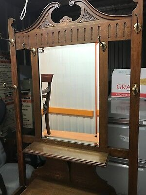 Dark wooden toned Hall Stand (including mirror) - great condition