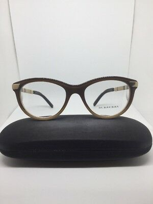f4a25d5a79 New Authentic Burberry B 2161-Q 3426 Brown Gradient Rx Eyeglasses 51-18-