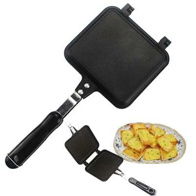 Sandwich Pan Handles Double Sided Pan Big Size Grill Pressure Frying Pan Black