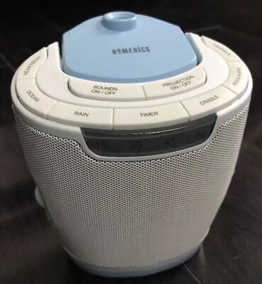 HOMEDICS SS-3000 SOUNDSPA LULLABY BABY SOUND MACHINE PROJECTOR 3 disks included