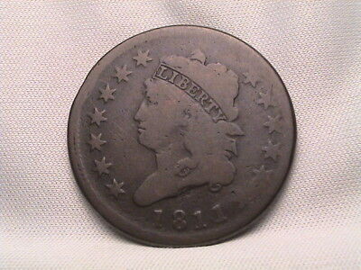 1811 Classic Head Large Cent. S-287, R2