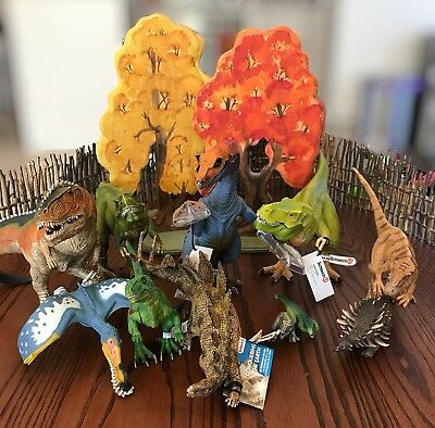 Schleich Dinosaurs (Lot of 10) + 1 X Collector (BNWT)
