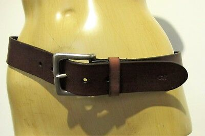 BELT Genuine LEATHER Brown COUNTRY ROAD Sz 34 86cms Designer Unisex Classic