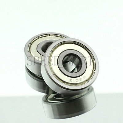 2PCS 6301ZZ Deep Groove Metal Double Shielded Ball Bearing (12mm*37mm*12mm)