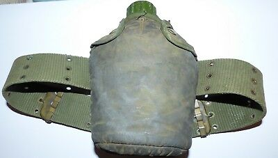 Australian Army Canteen Webbing Belt Broad Arrow Mark on belt Vietnam war era
