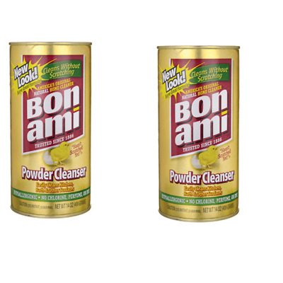 2 x Bon Ami Natural Powder Cleanser for Kitchen and Bathrooms