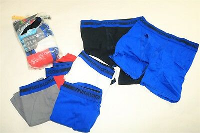 LOT OF 10 FRUIT OF THE LOOM Boys Tagless Sport Cotton Stretch Boxer Briefs - M