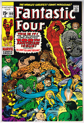 Fantastic Four 100 (Marvel 1970) NM 9.4 - 9.6 NM+ ***OUTSTANDING COPY***